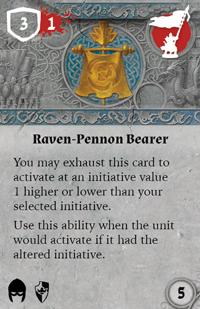 Rwm05 card raven-pennon-bearer