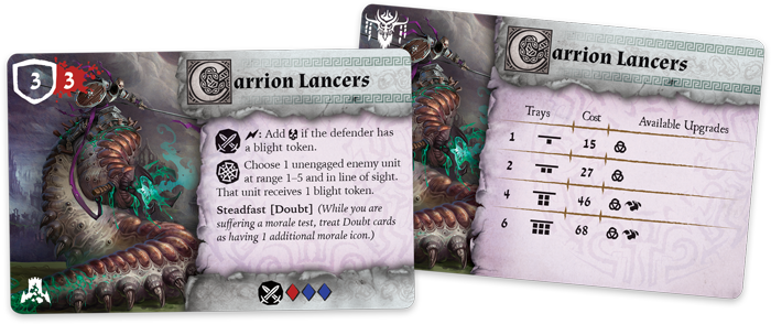 Rwm01 card unit carrion-lancers