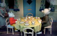Rupert-bear museum table scence