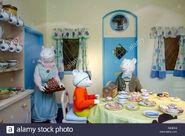 Rupert-bear-museum-window-display-canterbury-kent-D53EG0