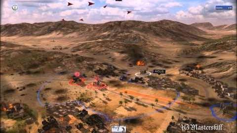 RUSE Mission 3 Kasserine Pass Gameplay Hard (Wargamer) Difficulty (2 2)