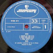 Rush, Mercury 9100 011label