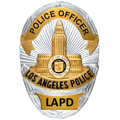 Blank badge lapd