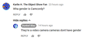 Cameras don't have genders