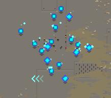 Blue orbs after boss