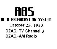 ABS DZAQ-TV CHANNEL 3 1953