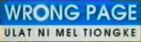Wrong Page Ulat ni Mel Tiongke Logo