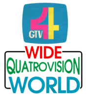 GTV 4 Wide Quatrovision World Logo 1977