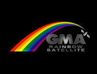 GMA Rainbow Satellite Test Card 1992 with 3D