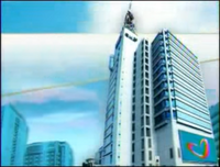GMA Sign On and Sign Off Day Background (2011-2014) with Kapuso Heart Animation at the GMA Compound billboard