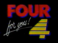 PTV 4 Logo ID 1989 Four For You!