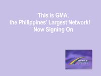 GMA Rainbow Satellite Sign On 1992