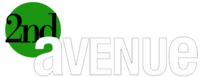 2nd Avenue Negative Logo 2010