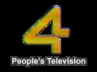 PTV 4 People's Television Logo 1989
