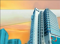 GMA Sign On and Sign Off Morning Background (2002-2004) with Kapuso Heart Animation at the GMA Compound billboard