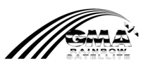 GMA Rainbow Satellite Print Logo 1992