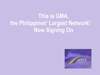 GMA Rainbow Satellite Sign On and Sign Off 1992
