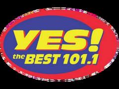 101.1 Yes The Best Alternative Logo 2016