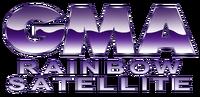 GMA Rainbow Satellite Wordmark Logo 1992