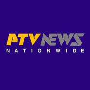 PTV News Logo Microphone Flag 1995-1998