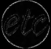 ETC Dark Blue Green Velvet Print Logo (September-October 2016)