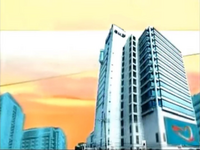 GMA Sign On and Sign Off Morning Background (2004-2007) with Kapuso Heart Animation at the GMA Compound billboard