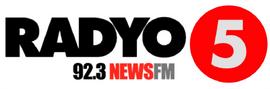 Radyo5 92.3 News FM Vector Logo 2018