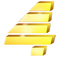 PTV 4 Wordmark Logo 1995