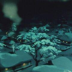 Изображение поселка из мультфильма 1952 года