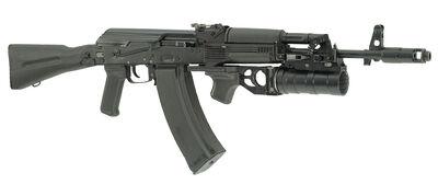 AK-74M 60 round mag and GP-34