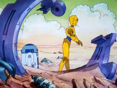 C-3PO R2-D2 debris TWW