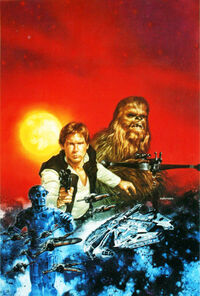 Han Solo at Stars' End art 1997