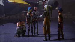 Hera talks to Ketsu and Sabine