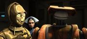 C-3PO и Падме Амидала допрашивают тактического дроида