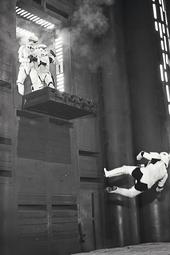Peter Diamond falling stormtrooper