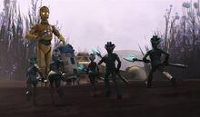 C-3PO и R2-D2. Первая встреча с патитиами