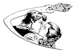 Han Leia kiss Falcon ZHR