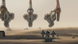 Stormtroopers watch the Hammerheads