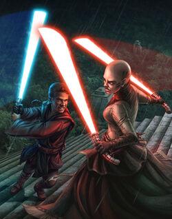 Anakin vs Ventress auf Yavin 4