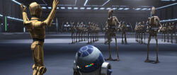 C-3PO и R2-D2. На корабле Гривуса в''Странствующие Дройды''