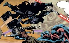 Синья использует мечи-тонфу