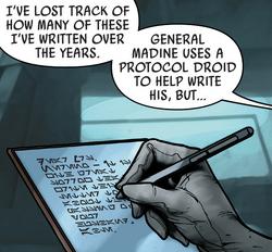 Leia writes