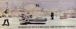 Mos Eisley preproduction sketch SWGM1