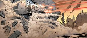 AT-AT Fires on Vader