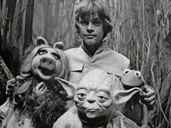 Luke and friends on Dagobah