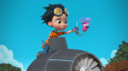 Rusty Rivets - Whirly in the Opening Sequence