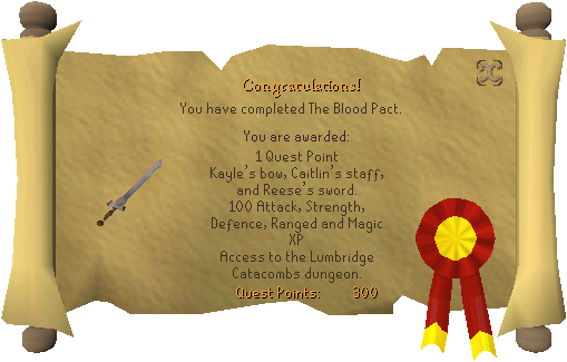 The Blood Pact Reward Scroll