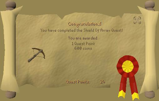 Shield Of Arrav Quest Reward