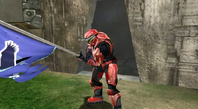 Red zealot with flag
