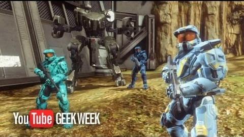 Geek Week Red vs. Blue Blockbuster Trailer